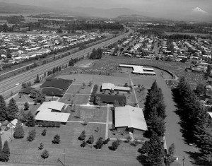 Aerial view of Marycrest campus 1972